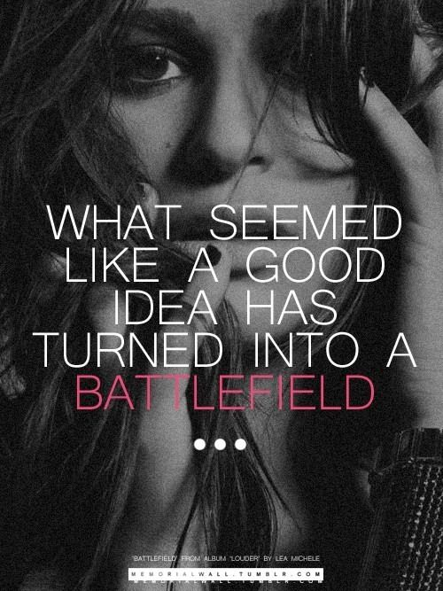 Battlefield ❤️ Lea Michele. I freaking love this song