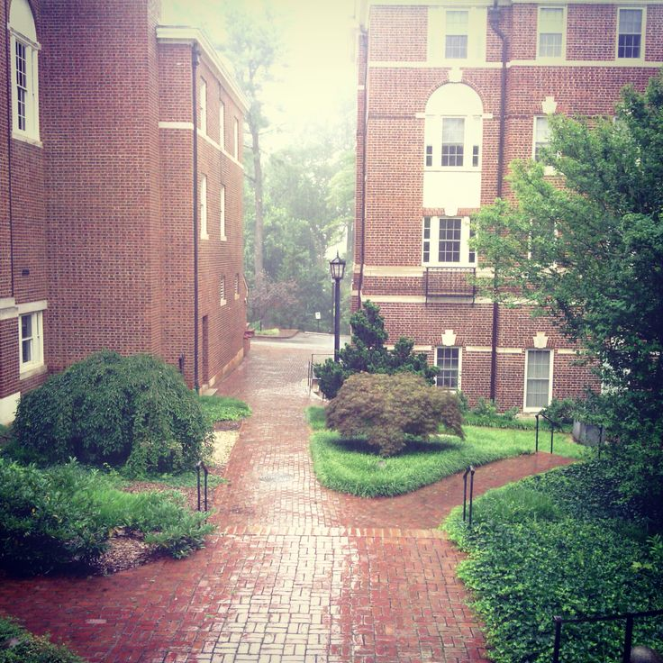 The dorms at Sweet Briar college on a rainy day ☔☁