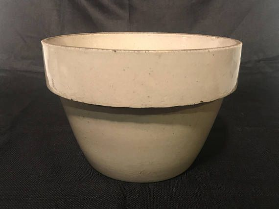 Antique Stoneware Mixing Bowl by Macomb Stoneware Co.  Beautiful addition to any collection.