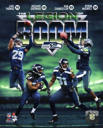 Seattle Seahawks The Legion of Boom Composite - Earl Thomas, Richard Sherman, Kam Chancellor, Byron