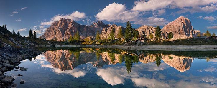 .Nature Mirrors, Autumn Dolomites, Bi Daniel, Pinterest Photographers, Beautiful, Mirrors Bi, Dolomites Panorama, Daniel Rericha, Daniel Řeřicha