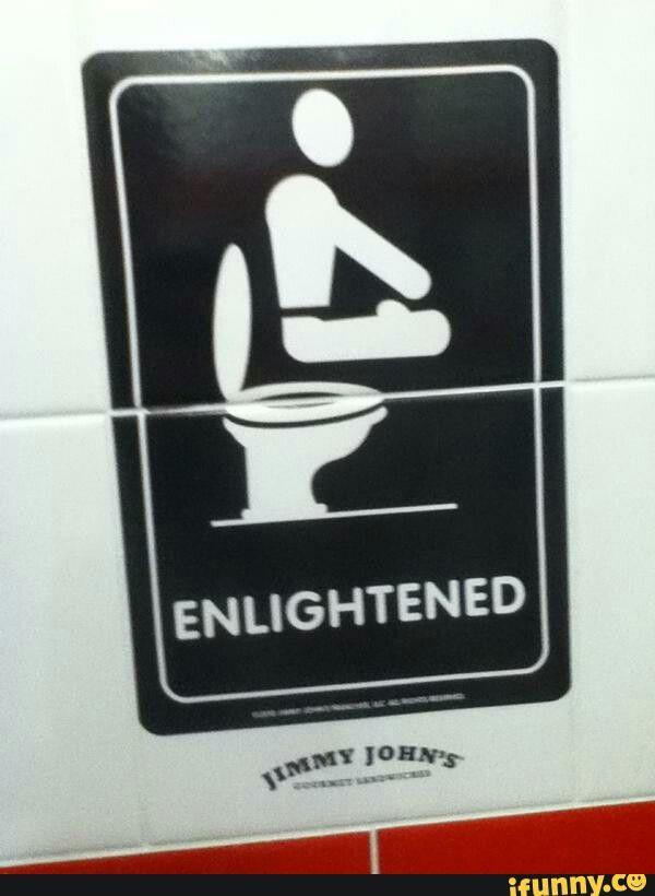 Jimmy John's bathroom sign Bathroom signs, Man cave
