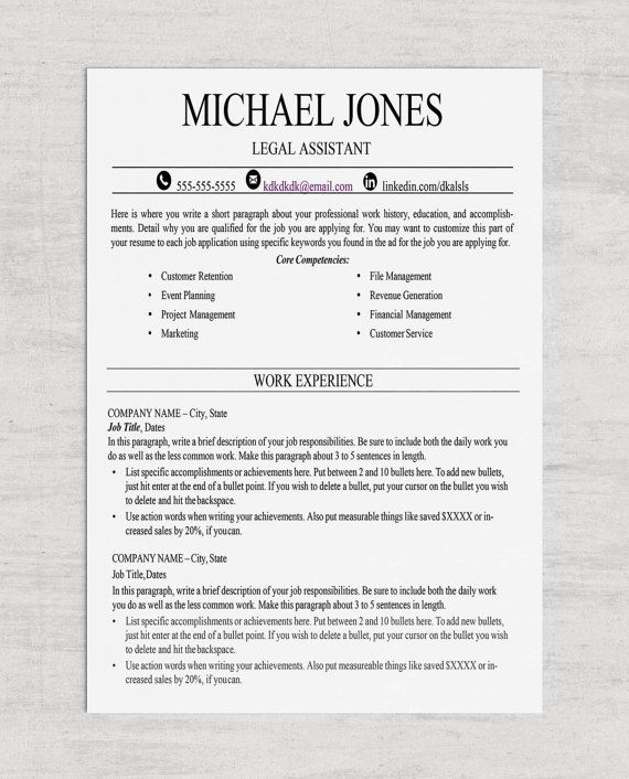 78 Best images about Resume Templates on Pinterest Teacher - microsoft word legal template