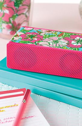 Lilly Pulitzer Wireless Bluetooth Speakers in Big Flirt- great quality, only $50