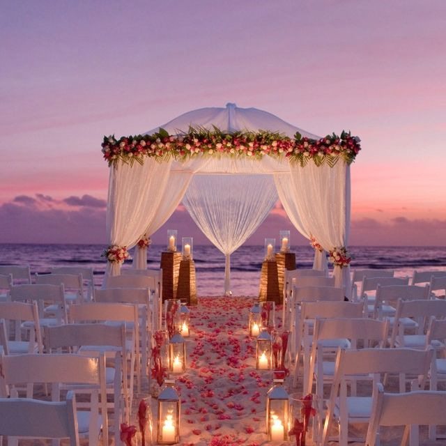 Night Beach Wedding Ceremony Ideas: Gorgeous Sunset Beach Wedding? I'm Thinking So!!!! Maybe I