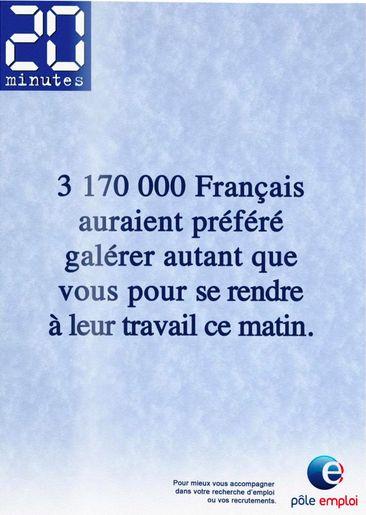 """Création sauvage imaginée pour Pôle emploi en """"une"""" du 20 minutes"""