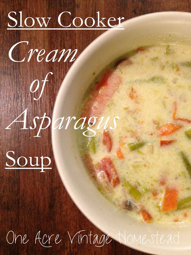 Slow Cooker Cream of Asparagus Soup