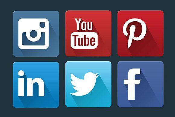 Flat Social Network Icon Set. Instagram #socialnetwork