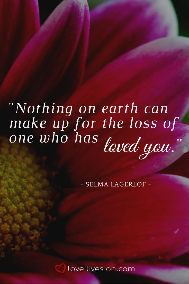 A beautiful funeral quote by Selma Lagerlof about the enormity of loss. Click for 100+ more funeral quotes to use in a eulogy or sympathy card.