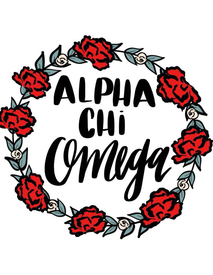 Alpha chi omega floral wreath by ShenaniDesigns on Etsy