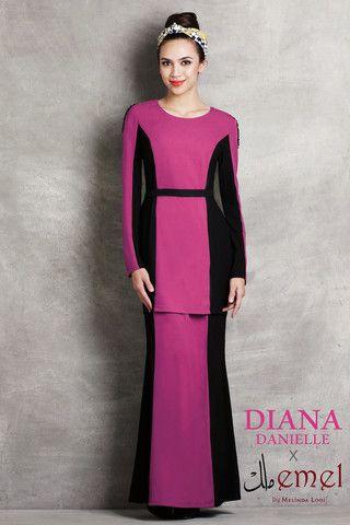 Diana Danielle x emel - Modern Kurung with Contrast Panel