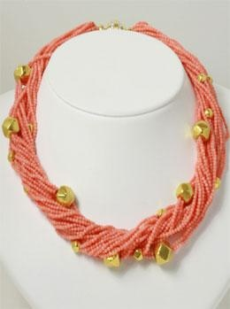 Randi Elyse Coral and Yellow Gold Necklace at London Jewelers!