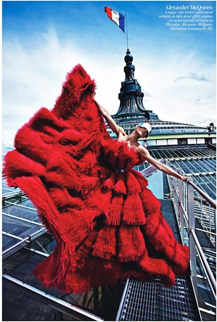 Alexander McQueen in a fashion editorial for French Vogue Repinned by www.fashion.net