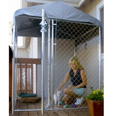lucky dog hirise kennel wcover kennels u0026 outdoor enclosures