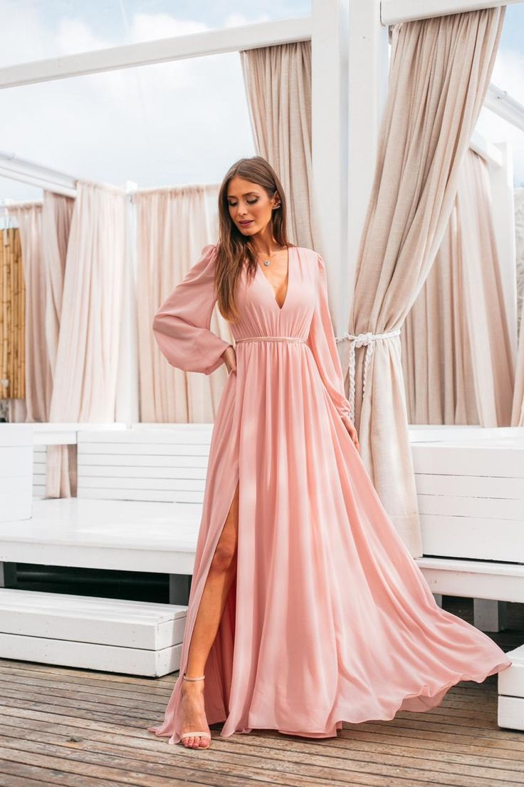 VESTIDO LONGO ROSA in 2020 | Fashion, Dresses, Evening dresses