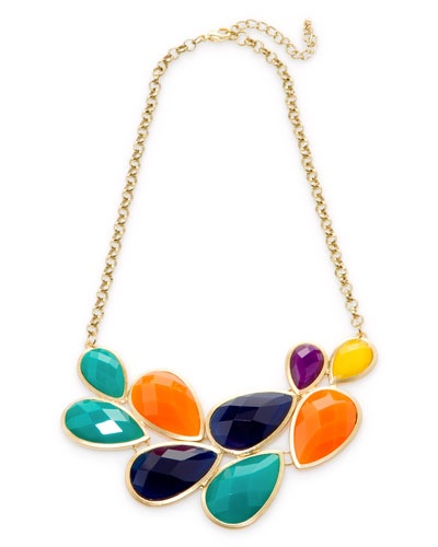 colorful necklace: Pretty Bibs, Fall Colors, Pretty Colors, Style Necklaces, Bibs Style, Baubles Bangles Beads, Colors Necklaces, Bags Diamonds Accessories, Bibs Necklaces