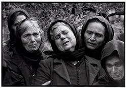 "Constantine Manos GREECE. Mani. Pirgos Dirou. 1962. Woman at graveside. ""A Greek Portfolio"""