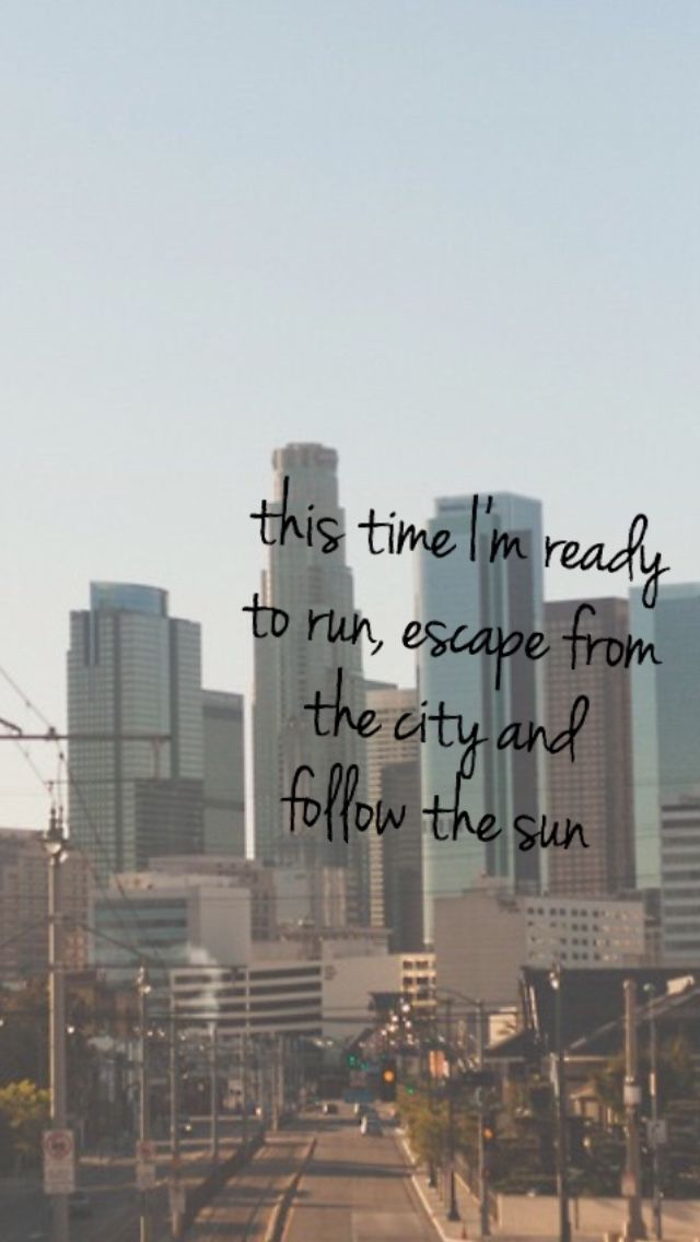 This time in ready to run, escape from the city and follow the sun
