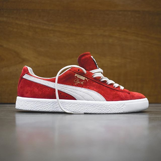 low priced e5ef1 a0784 Puma Clyde: Barbados Cherry/White | styling tips in 2019 ...