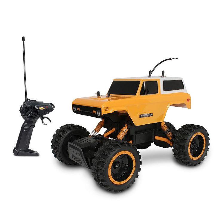 Nkok Mean Machines Rock Crawlers Remote Control '70 Ford Bronco Truck, Multicolor