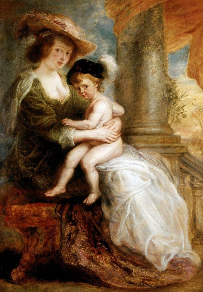Питер Пауль Рубенс. Портрет Елены Фурман с сыном Франсом, 1635 г.
