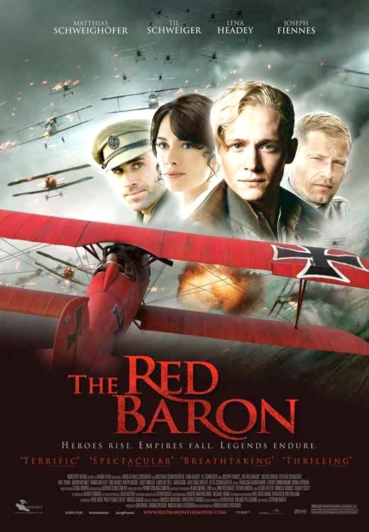 The Red Baron (2008) Based on the true story of the notorious World War I flying ace, this drama explores the life of Manfred von Richthofen -- aka the Red Baron -- from his childhood fascination with flying to his renowned career in the German Luftwaffe. Matthias Schweighöfer, Lena Headey, Til Schweiger...TS bio