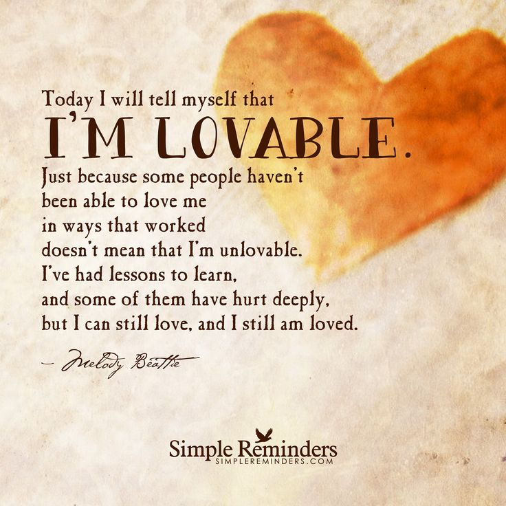 """I am lovable"" by Melody Beattie"