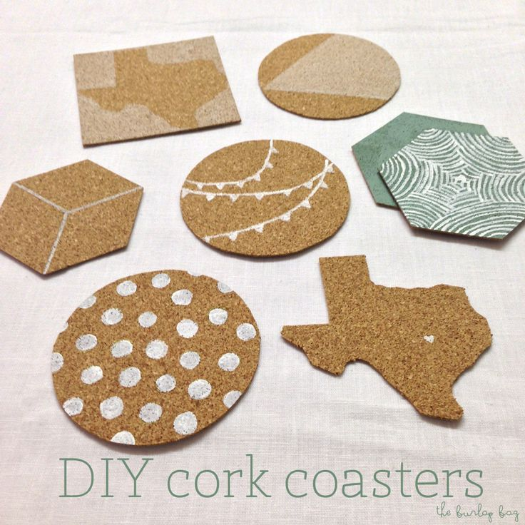 Diy Cork Coasters Happenings Bags And Cork Coasters