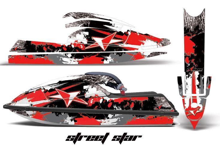 Kawasaki 750SX Jet Ski Graphic wrap decal Kit 1992-1998. Kawi SXR750