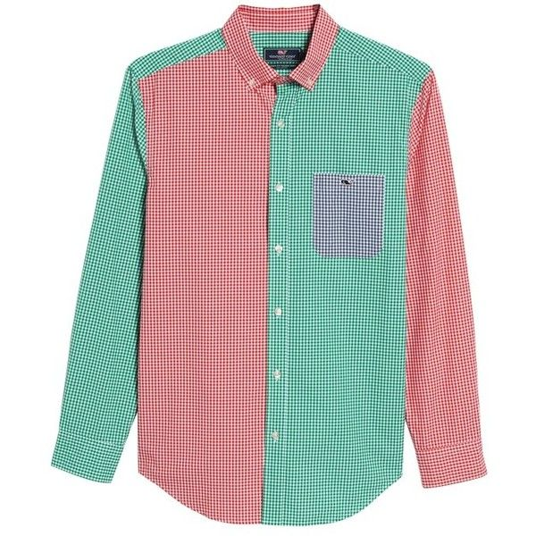 82ff9f14d7ae3a Men s Vineyard Vines Holiday Party Classic Fit Colorblock Sport Shirt (105  AUD) ❤ liked
