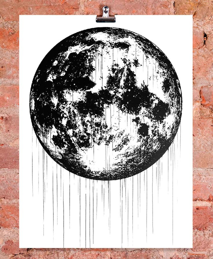 'Full Moon' by Victor Ash, as seen as a mural in Berlin. Print available here: http://www.nellyduff.com/gallery/victor-ash/full-moon  #moon #lunar #cosmic #print #art