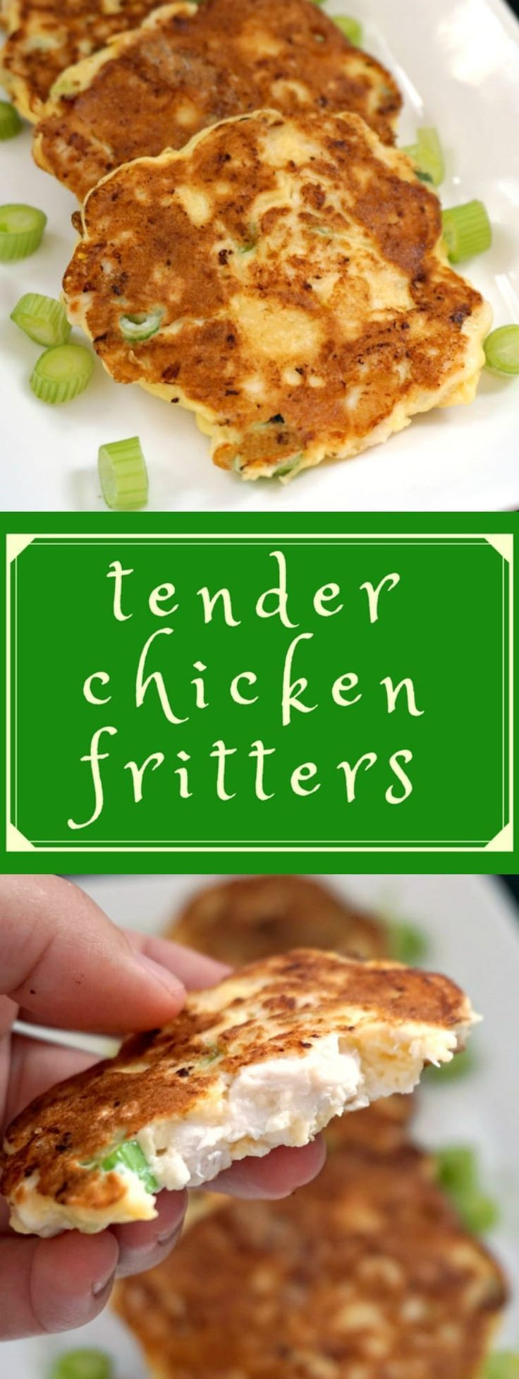 Tender Chicken Fritters Recipe, a delicious and healthy appetizer, totally kid friendly. Ready in well under 30 minutes, super easy to make. #chickenfritters , #30minuterecipe, #kidrecipes , #chickenappetizers