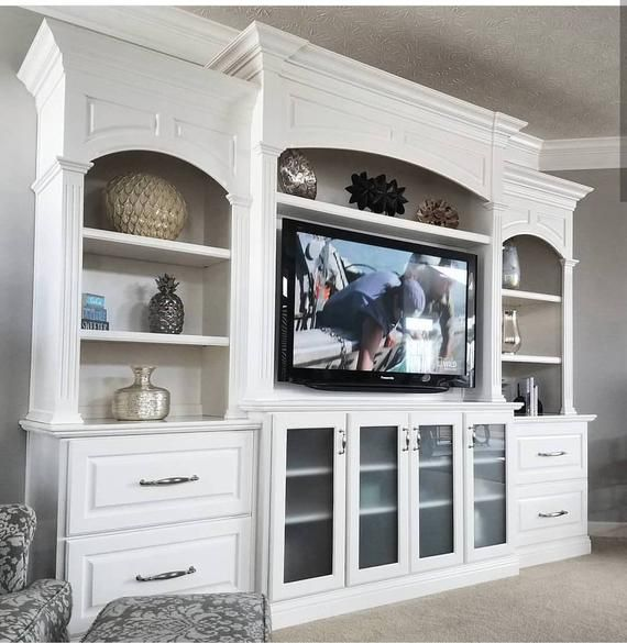 Entertainment Center, Bookcase Built-In, Home Theater, Media Center