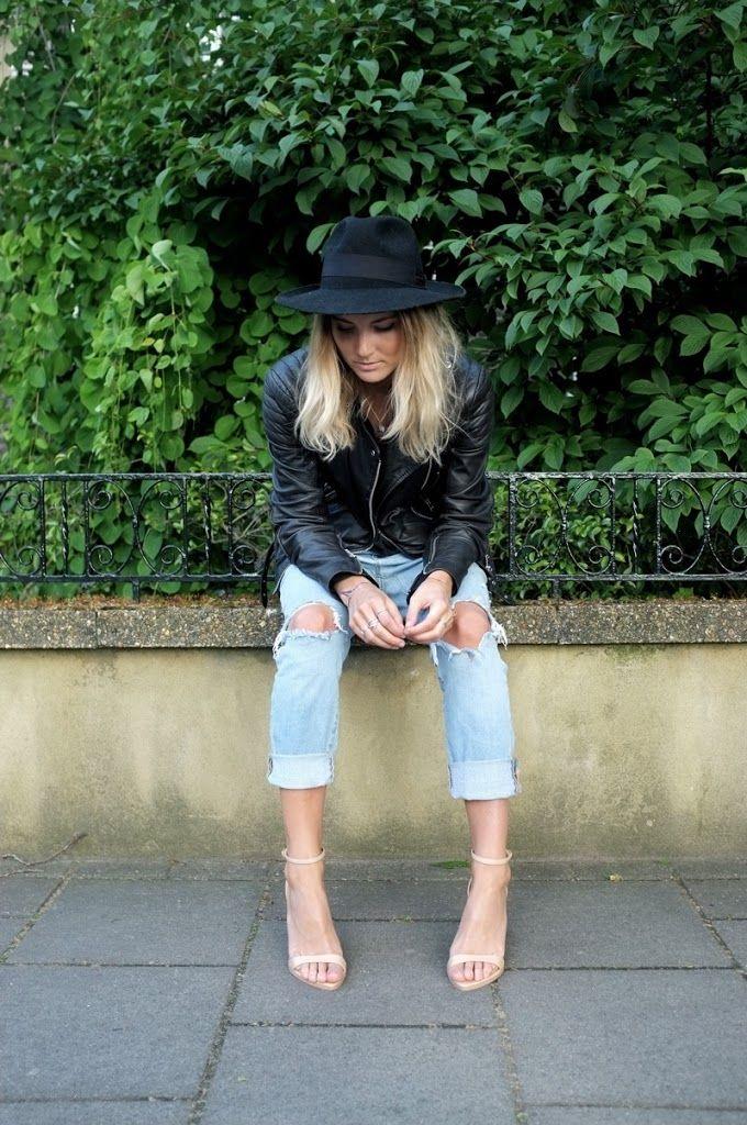 Jacket / Whistles Jeans / Gap T-shirt / Urban Outfitters Belt / Olive Clothing Nude heels / Zara Black sandals / Birkenstocks Hat / Vintage Rings / Noemi Klein, Vera Meat and Natalie Marie Jewellery
