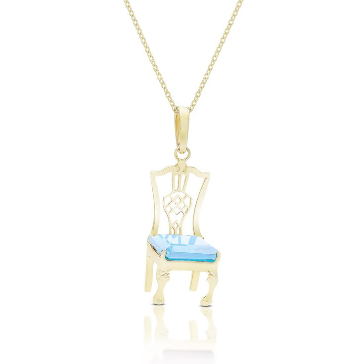 Dolce Giavonna Gold Over Sterling Silver Gemstone Chair Design Necklace