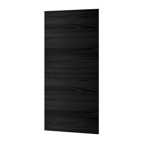 Tingsryd door wood effect black warm it is and for Wood effect kitchen doors