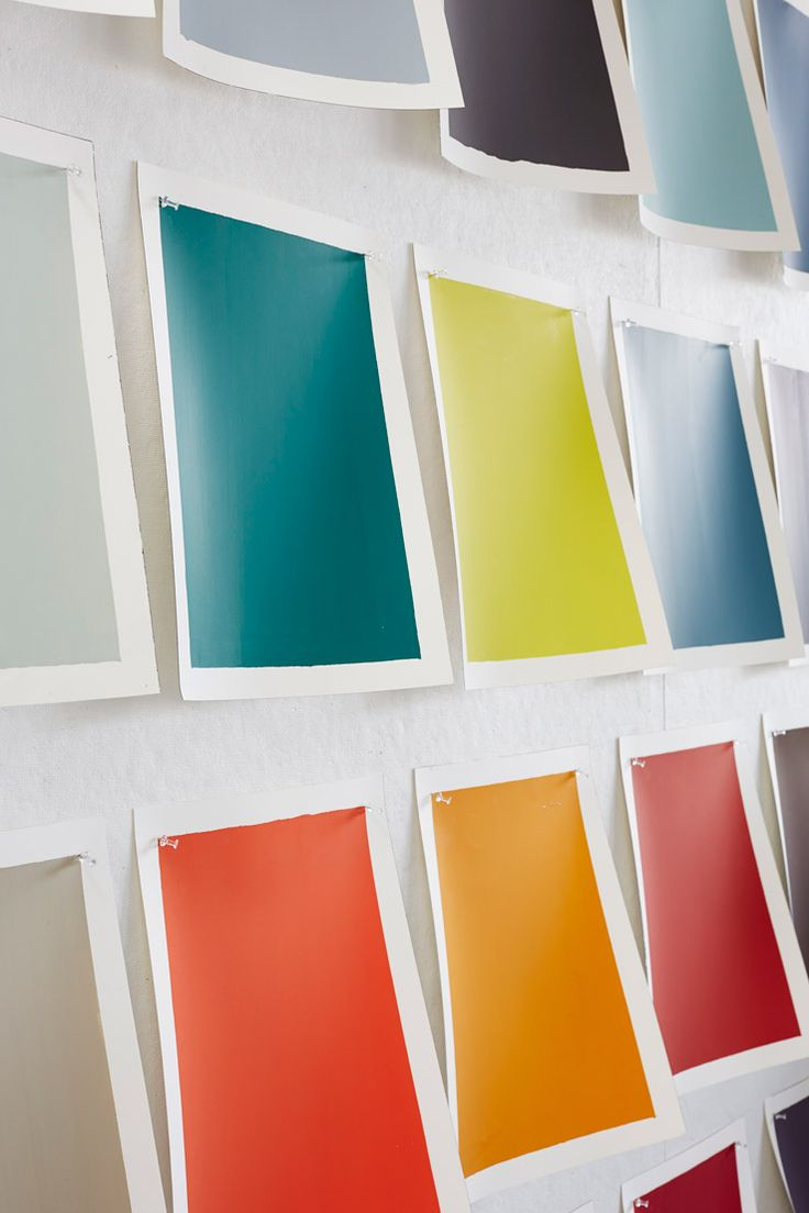 color swatches on wall