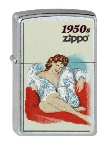 Original-ZIPPO-Benzin-Feuerzeug-ZIPPO-Pinup-Girl-1950-Z1444