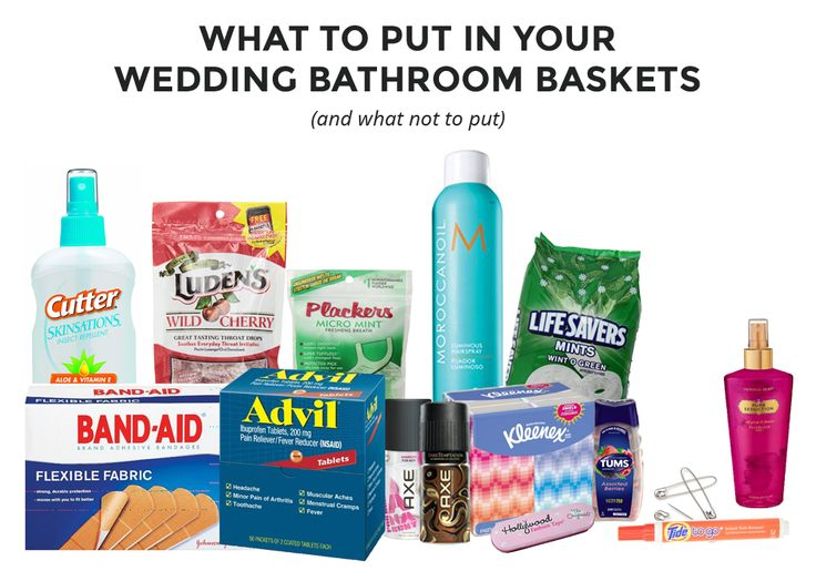 "Wedding bathroom baskets, also called ""hospitality baskets"" are a great addition to your wedding. They are baskets filled with often-needed toiletries for guests to use while getting their celebration on at your wedding. With the many weddings we've attended, we've seen very minimal and very over-the-top approaches. We like to keep things fairly simple and …"