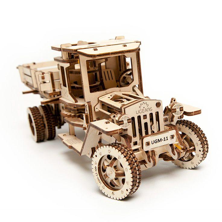 Грузовик UGEARS - это механический 3D пазл из дерева. Оригинальный и экологичный конструктор для детей и взрослых.