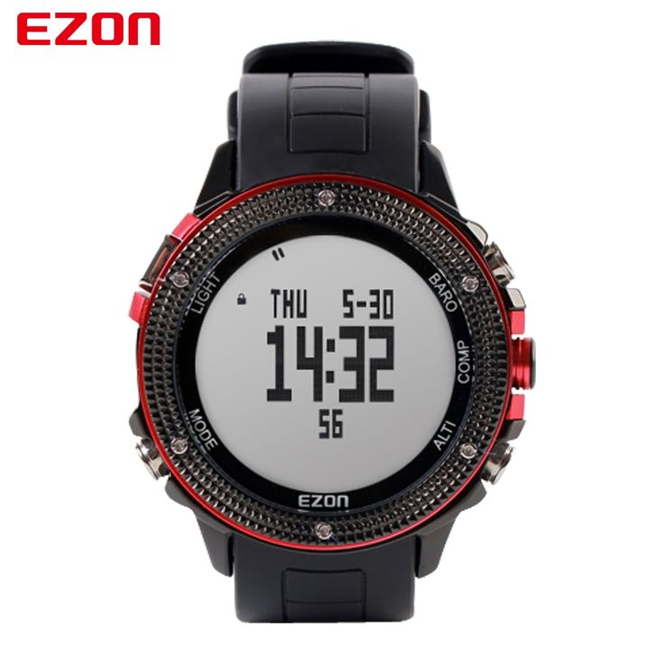 152.74$  Watch now - http://alik5f.worldwells.pw/go.php?t=32780716400 - EZON Altimeter Barometer Thermometer Compass Weather Forecast Men Digital Watches Sport Outdoor Fun Climbing Hiking Wristwatch 152.74$