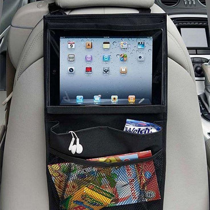 Baby Kids Car Seat iPad Hanging Bag Car Headrest Holder Tablet Wallet Case  Auto Back Car Seat Multi-Pockets  Storage Hanging