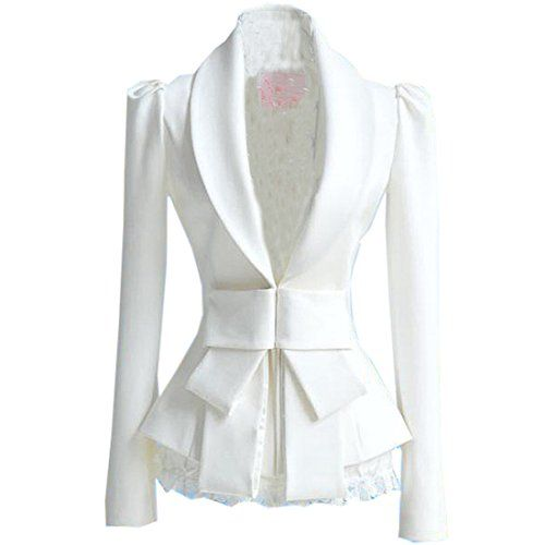 Women Slim Fit Ladies Bowknot White Long Sleeve Blazer Jacket Top Coat Outerwear Small,White Fashion Season http://www.amazon.co.uk/dp/B00FIGZZX8/ref=cm_sw_r_pi_dp_O7OIub1ABQPYQ