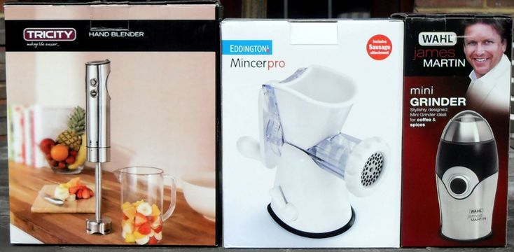 Win Tricity Hand Blender, James Martin Grinder & Eddingtons Mincer from Tesco Direct #review #win #competition