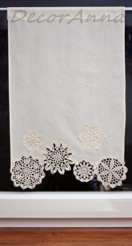 DecorAnna: Zazdrostka z serwetkami  Curtain with crochet doil...