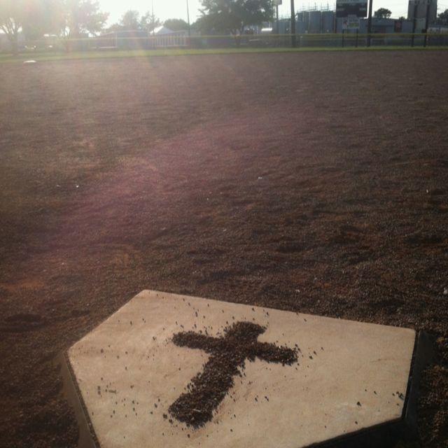 I took this photo myself. this is to express my love of softball and my savior Jesus Christ #softball #God