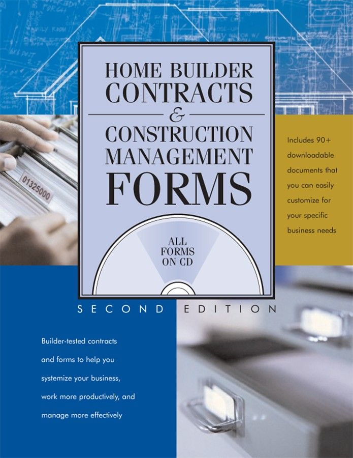Home Builder Contracts And Construction Management Forms Work - free home sale contract