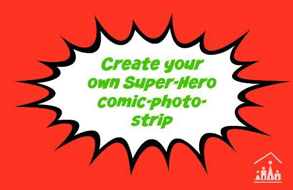 create your own superhero comic photo strip