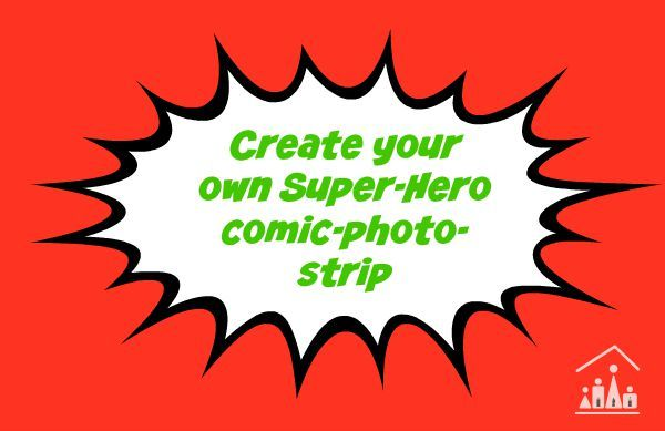 create your own superhero comic photo strip