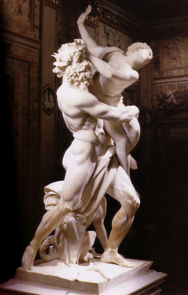 "5ª Arte - Escultura (volume);   ""O rapto de Perséfone"" (1621), de Bernini."
